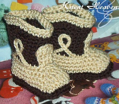 Boutique Crochet Cowboy Boots Baby Booties Kneat Heaven