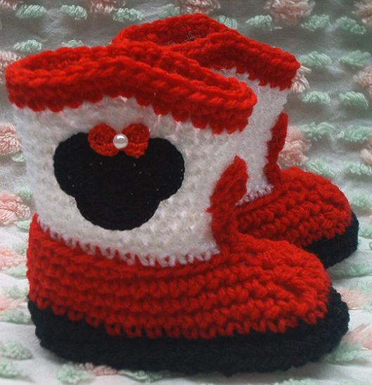 Boutique Crochet Cowboy Boots Baby Booties Wmouse Ears Kneat Heaven