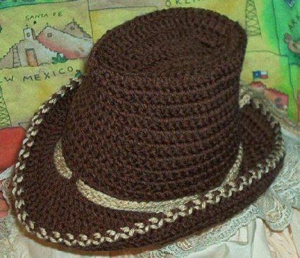 Boutique Crochet Cowboy Baby Hat Kneat Heaven